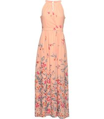 dresses light woven maxi dress galajurk roze esprit collection