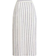 bcbgeneration striped zip midi skirt