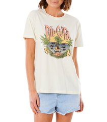 women's rip curl north shore graphic tee, size x-large - ivory