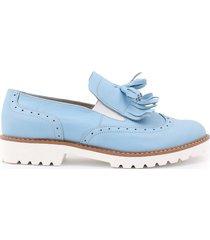 skórzane półbuty zapato 247 niebieski