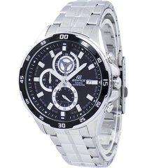 reloj casio edifice efr-547d-1a lujoso para hombre negro/plateado
