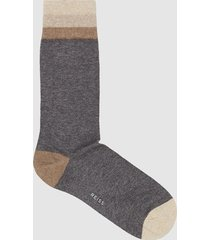 reiss franks - striped socks in light grey, mens