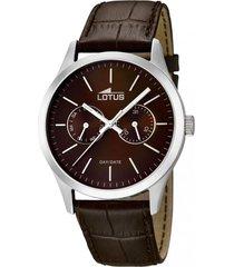 reloj 15956/2 marrón lotus hombre minimalist