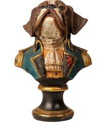 escultura decorativa de resina busto cachorro spike