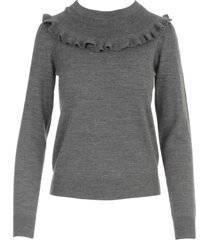 see by chloé crew neck l/s sweater
