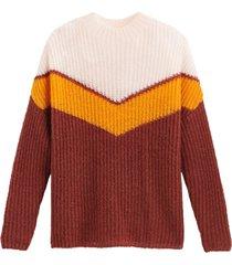 tröja med colorblock-effekt