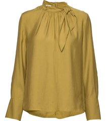 blouse long-sleeve blus långärmad gul gerry weber