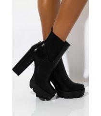 akira going nowhere chunky heel platform bootie