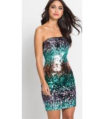 strapless jurk met pailletten