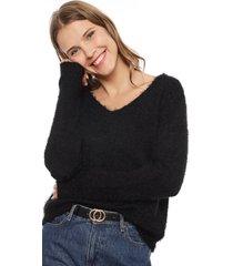 sweater jacqueline de yong cheer negro - calce holgado