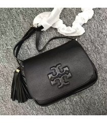 authentic tory burch thea fringe crossbody bag
