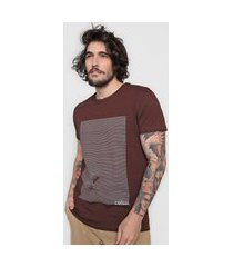 camiseta colcci surf lines marrom