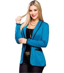 chaqueta para mujer azul petroleo mp