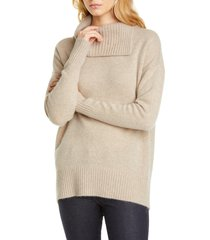 women's nordstrom signature cashmere pullover, size xx-large - beige