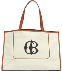 leather trim canvas beach tote