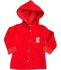 casaco bebê tileesul casaquinho capuz moletom felpudo