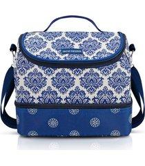 necessaire tã©rmica jacki design marmita lanches estampada azul - azul - feminino - dafiti