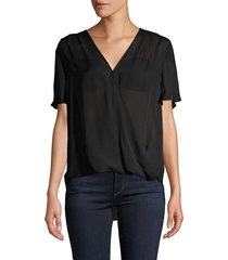 l'agence women's high-low silk top - champagne - size xs