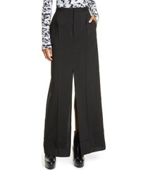 women's mm6 maison margiela slit wool maxi skirt