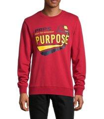 prps men's terrain graphic sweatshirt - red - size xxl