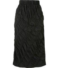 3.1 phillip lim ruched mid-length skirt - black