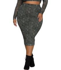 good american mesh midi skirt, size 6 in huntersnake001 at nordstrom