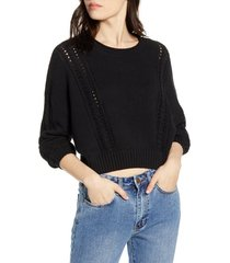 women's billabong night falls crop sweater