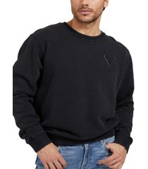 guess men's fleece logo patch sweatshirt