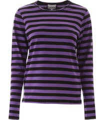 ganni striped t-shirt