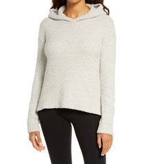 women's ugg louise fluffy lounge hoodie, size small regular - beige