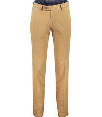 portofino flatfront pantalon camel slim fit