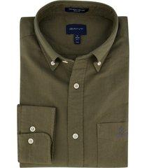 gant overhemd regular fit groen