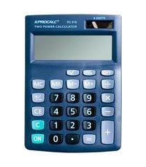 calculadora de mesa procalc pc818 8 dígitos solar preto
