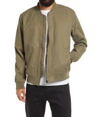 men's topman icon bomber jacket, size small - beige