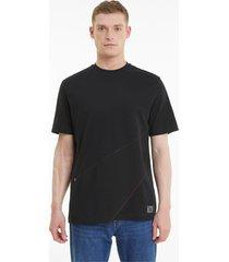 re.gen panel t-shirt unisex, zwart, maat s | puma