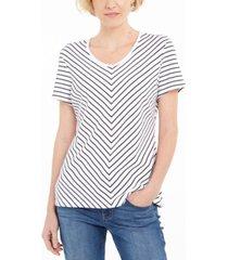 karen scott petite chevron-print t-shirt, created for macy's