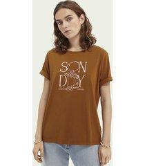 scotch & soda grafisch t-shirt van biologisch katoen