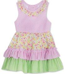 rare editions toddler girls tiered ruffles seersucker dress