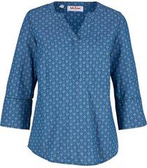 tunica di jeans fantasia con maniche a 3/4 (blu) - john baner jeanswear
