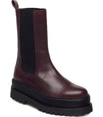 renoir shoes boots ankle boots ankle boot - flat röd mango