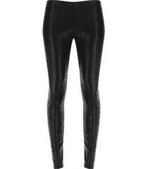 leggings encuerado color negro, talla m