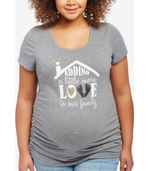 motherhood maternity plus size graphic t-shirt