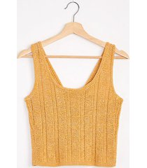 lou & grey button strap cropped sweater tank