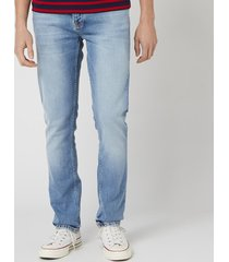 nudie jeans men's grim tim slim jeans - crispy stone - w38/l32