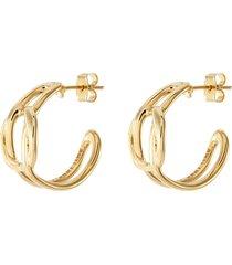elina' 24k gold plated earrings