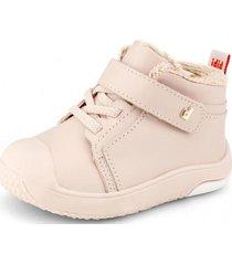 zapato prewalker piel de peluche rosa bibi