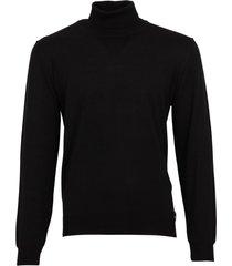 olymp trui zwart met col extra fijn merinowol