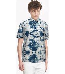tommy hilfiger men's classic fit essential tie-dye polo blue tie dye - xxl