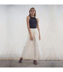 pantalon blanco para mujer priscila pantalon priscila blanco-l
