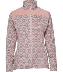 tinnhølen microfleece jacket sweat-shirt tröja rosa skogstad